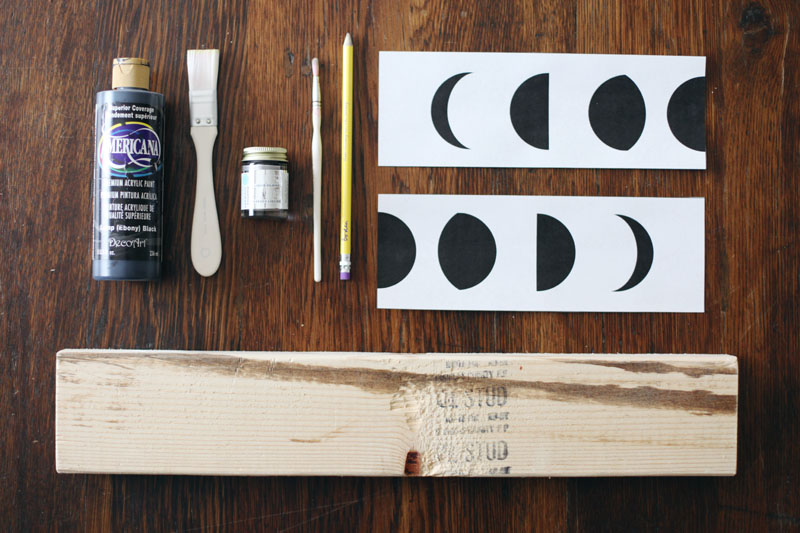 Make this silver leaf moon phases art for your walls— A great way to use up scrap pieces of lumber!