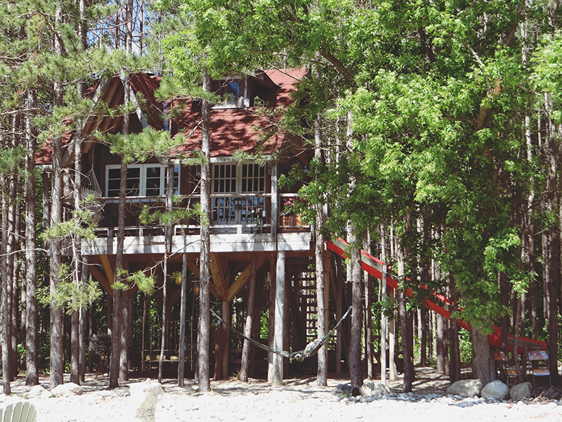 In love with this tree house tour via A Beautiful Mess!