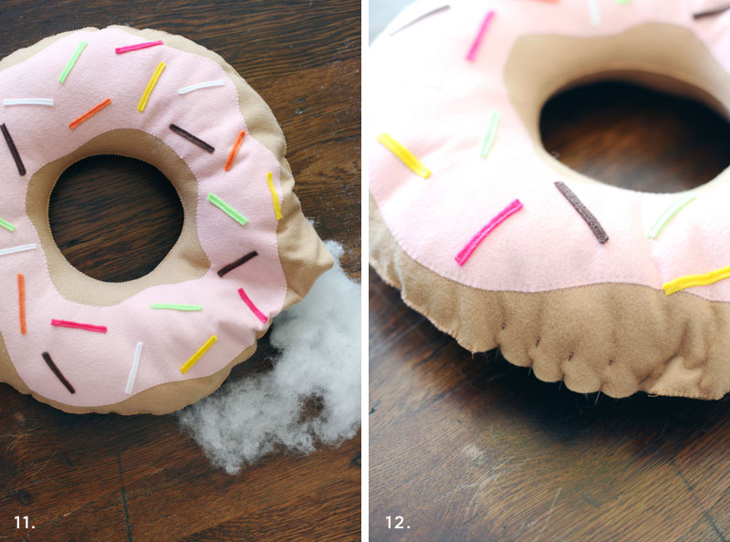 Simple doughnut pillow tutorial- for both kiddos AND grown-up kiddos!