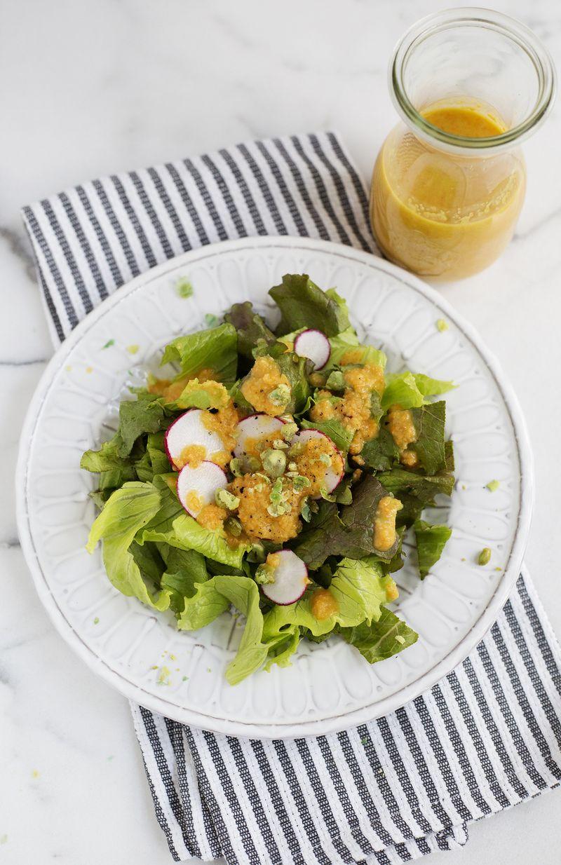 Carrot ginger dressing (click through for recipe)