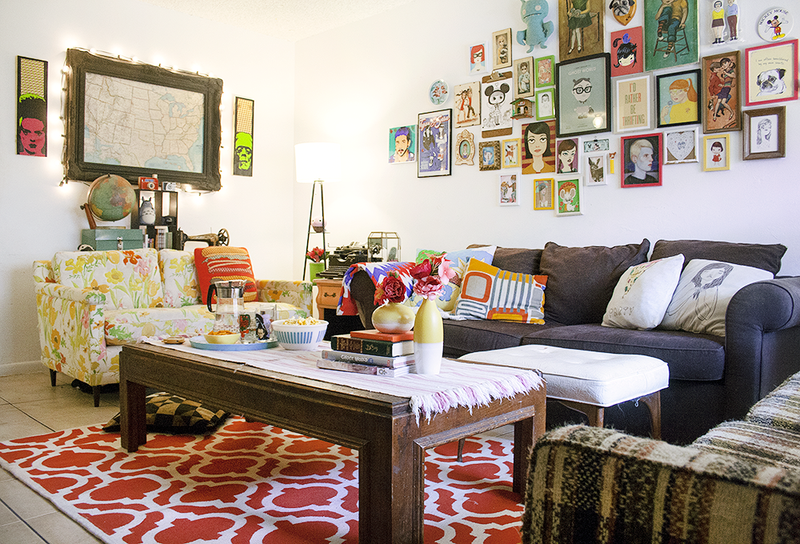 Love this eclectic living space