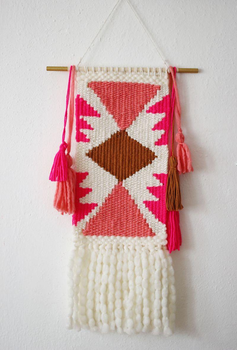 Weaving Class - Shapes, Tassels, Painted Dowels