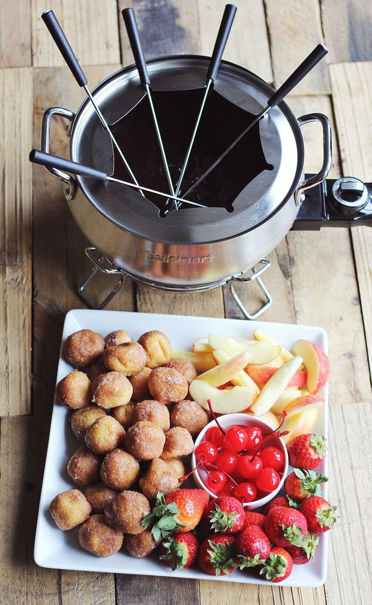 Chocolate cherry liquer fondue