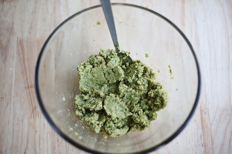 Falafel quinoa batter