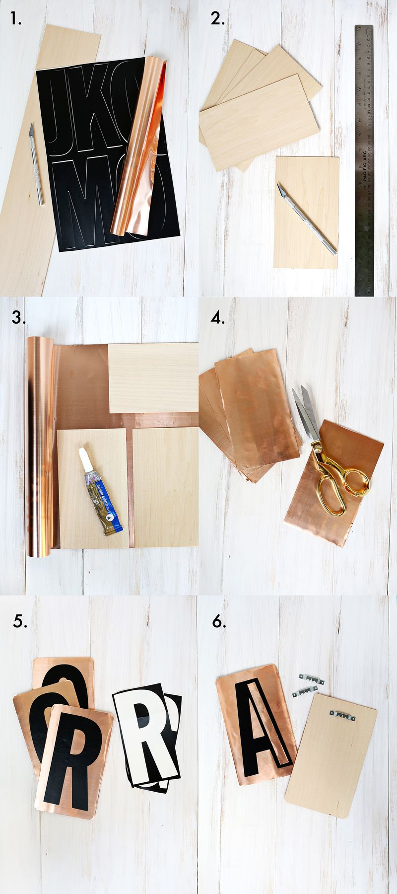 Love this! Vintage copper letter DIY (click through for tutorial)