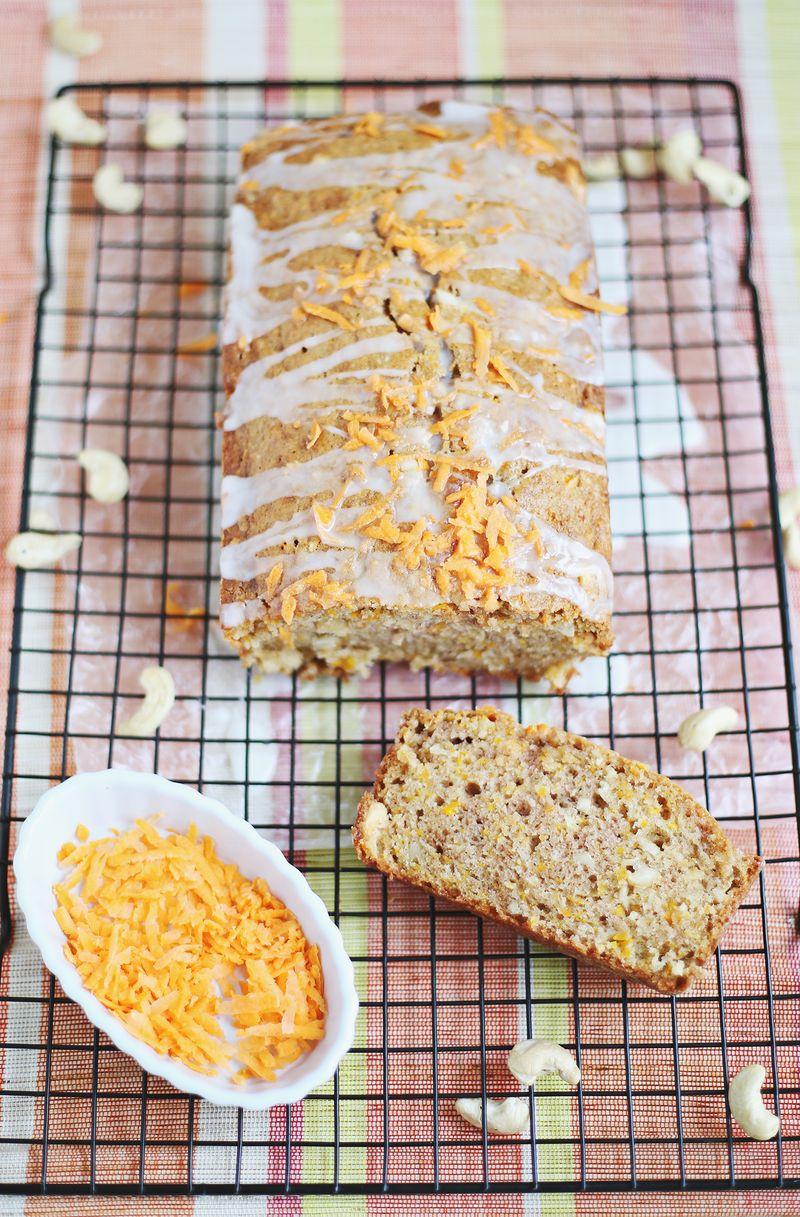 Cashew carrot bread