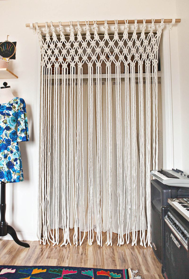 Make Your Own Macrame Curtain A Beautiful Mess