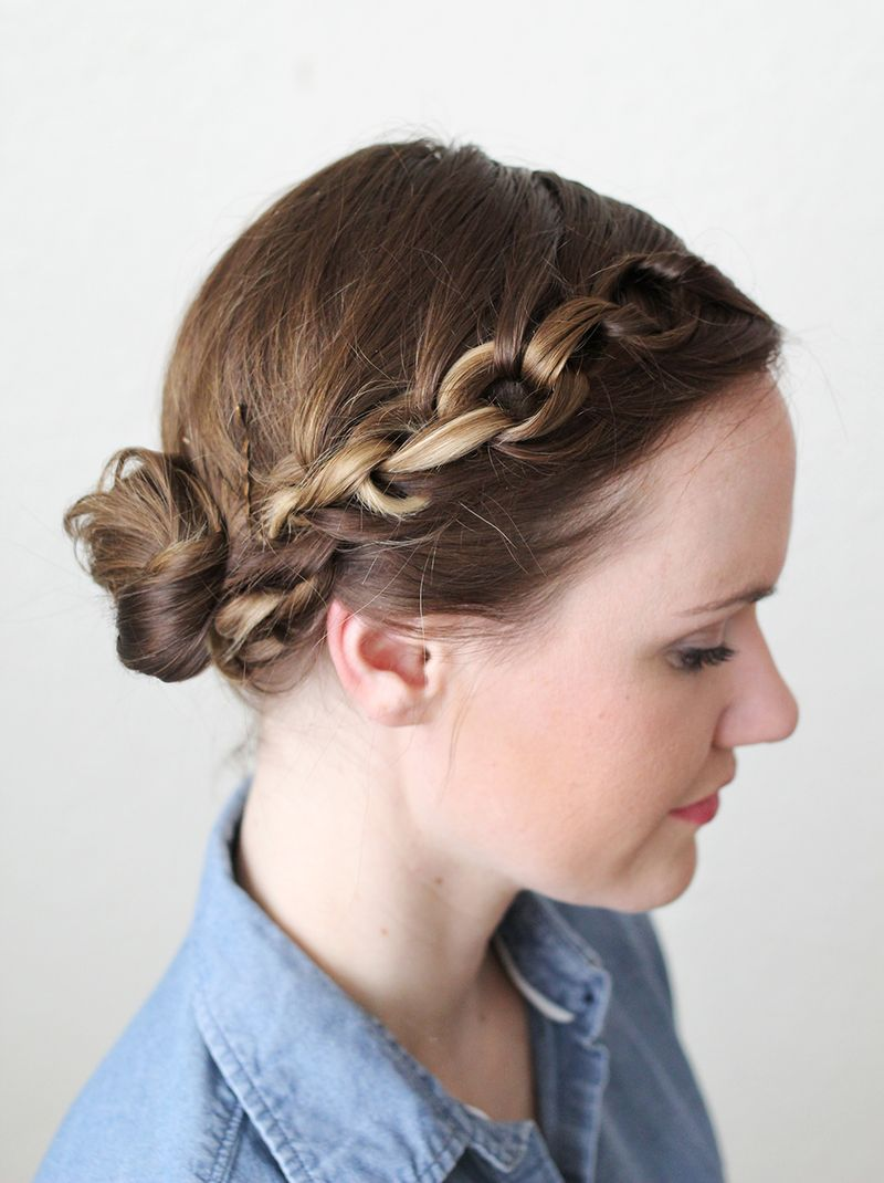 Lovely Chain Braid (click through for tutorial)