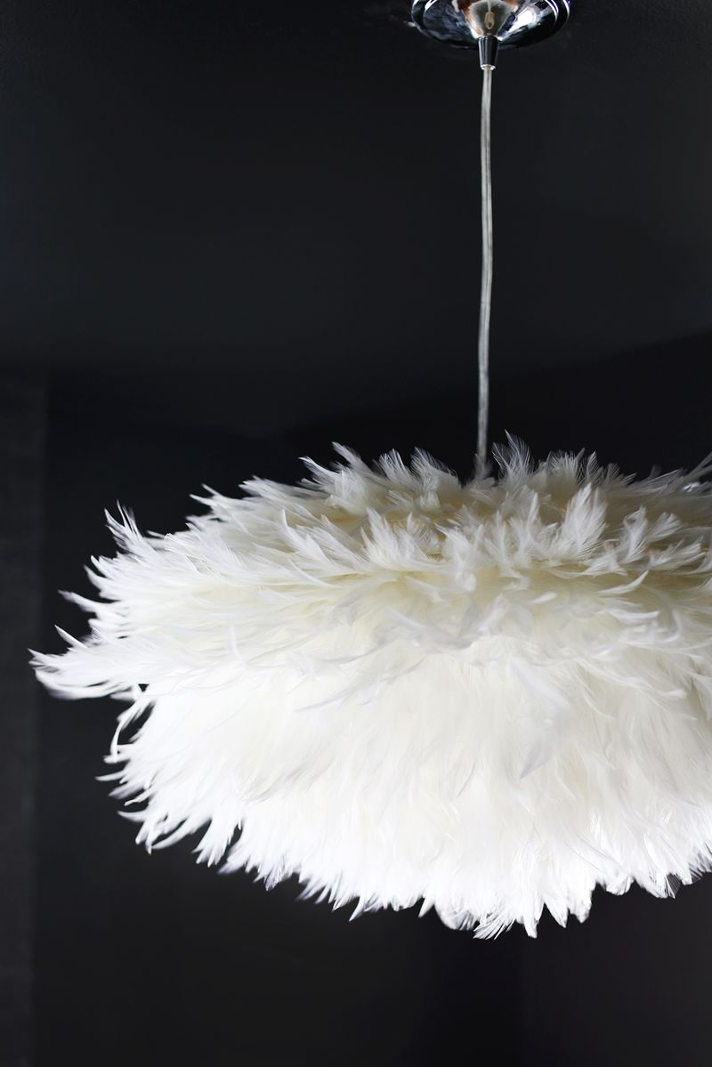 DIY Feather Pendant abeautifulmess.com