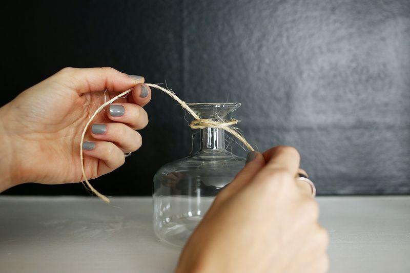 Hanging Vase Display DIY abeautifulmess.com