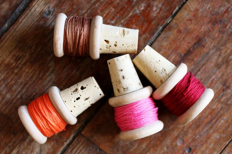 Thread wine corks