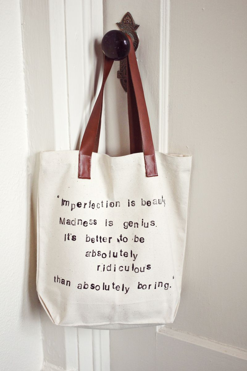 Stamped tote