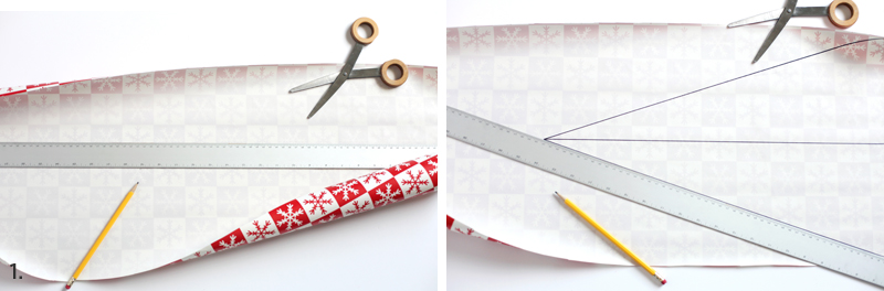 Make this pennant pillow for someone special! Click through for instructions.
