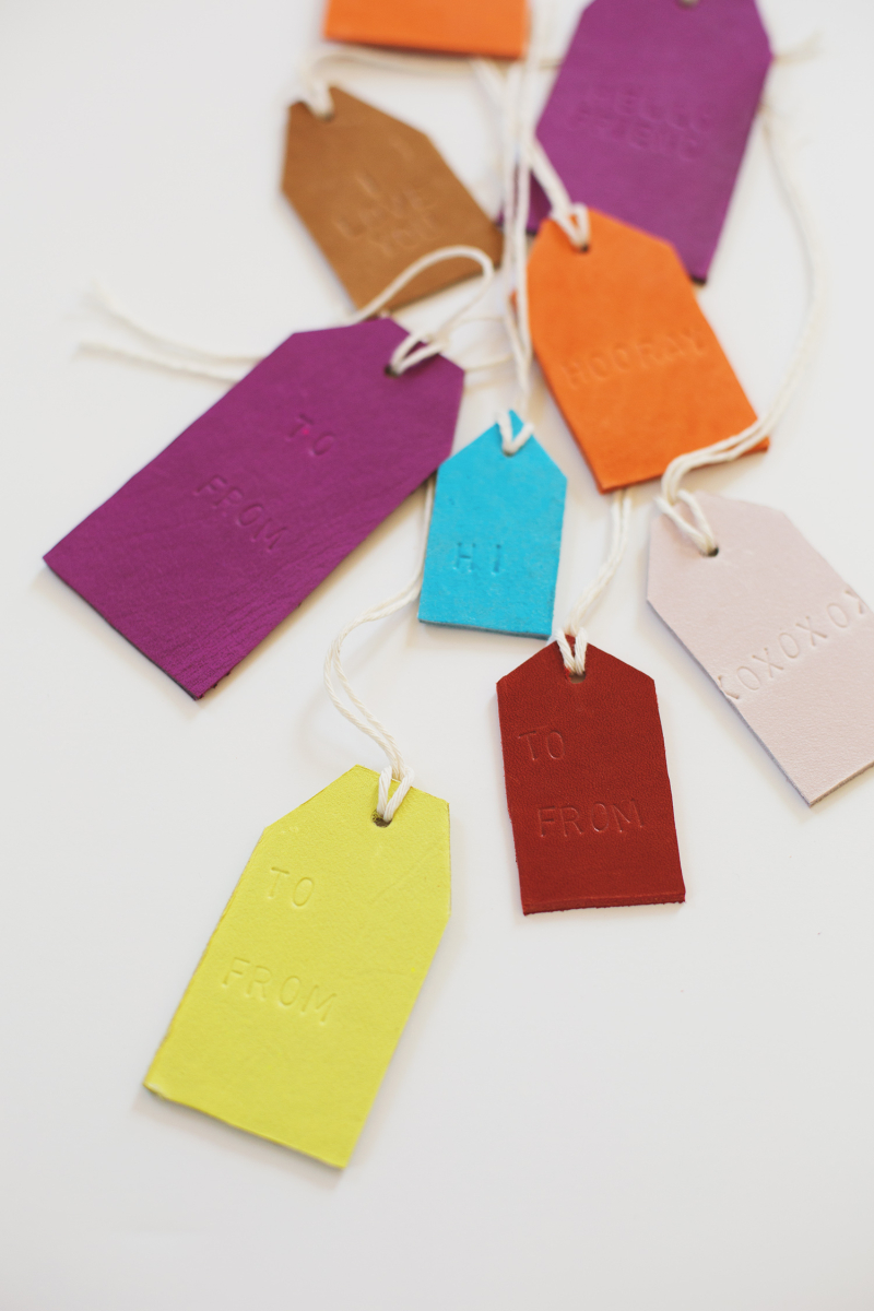 Let's make leather stamped tags