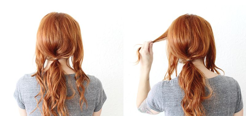 Criss Cross Ponytail (step 1-2)