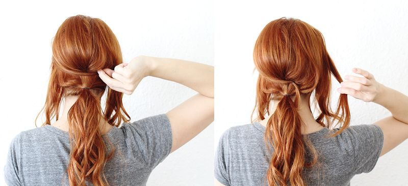 Criss Cross Ponytail (step 3-4)