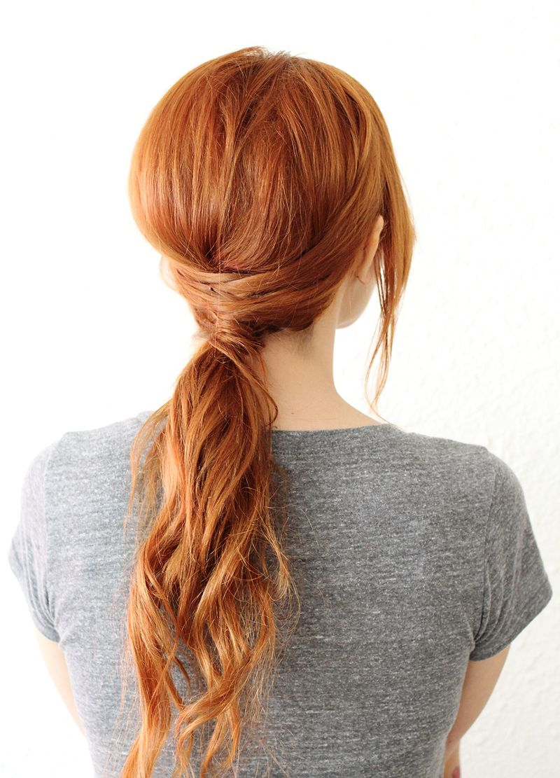 Criss Cross Ponytail (click through for instructions)