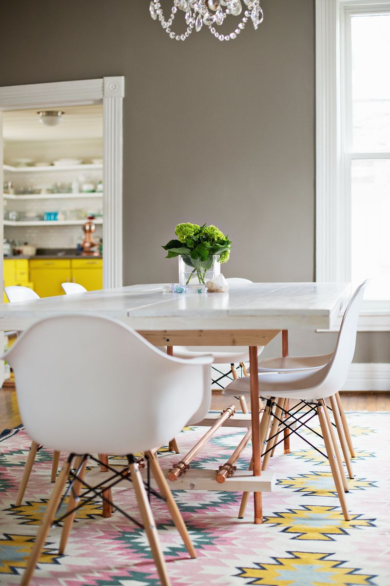 DIY Dining Room Table (with copper legs!)