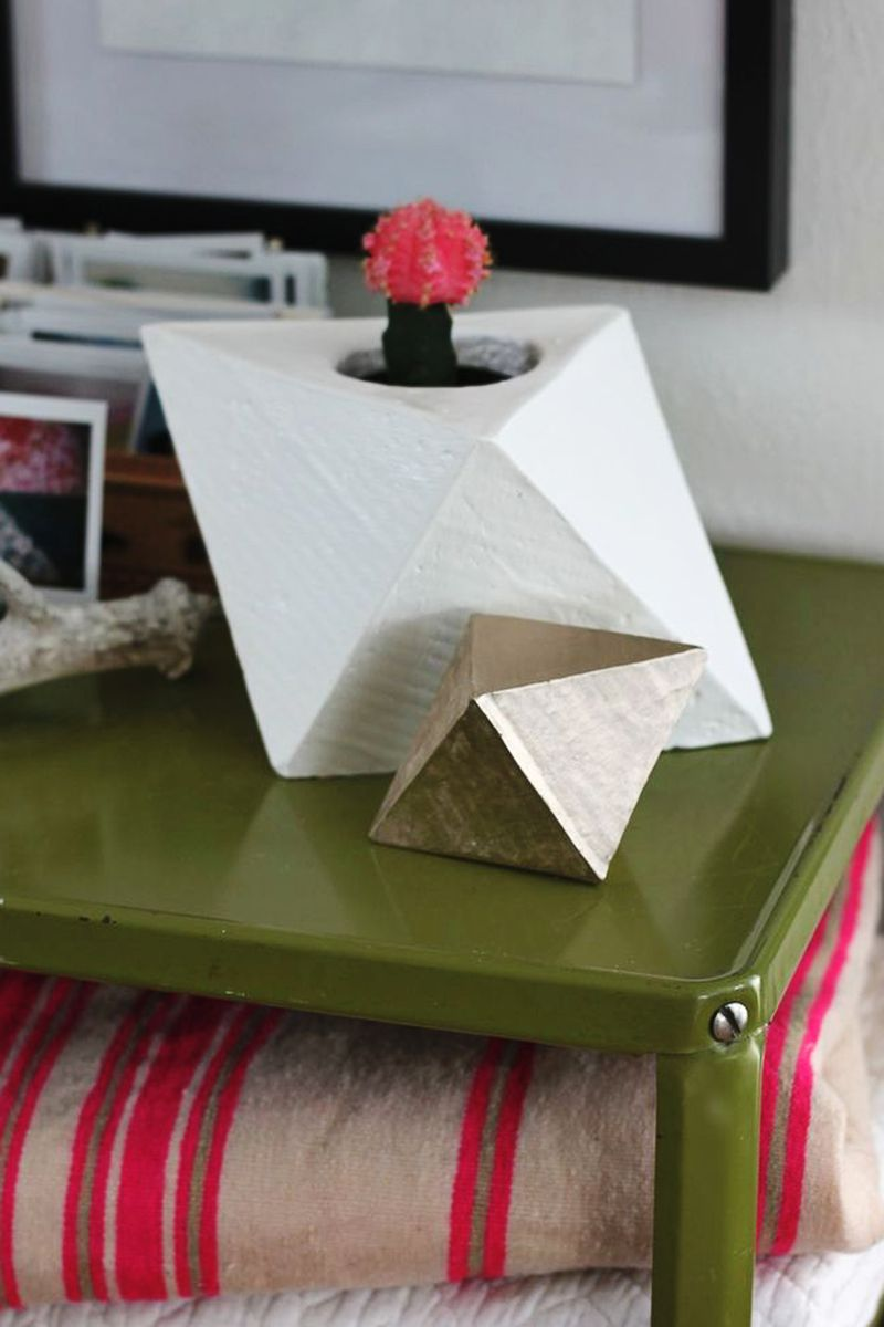 Geometric planter diy