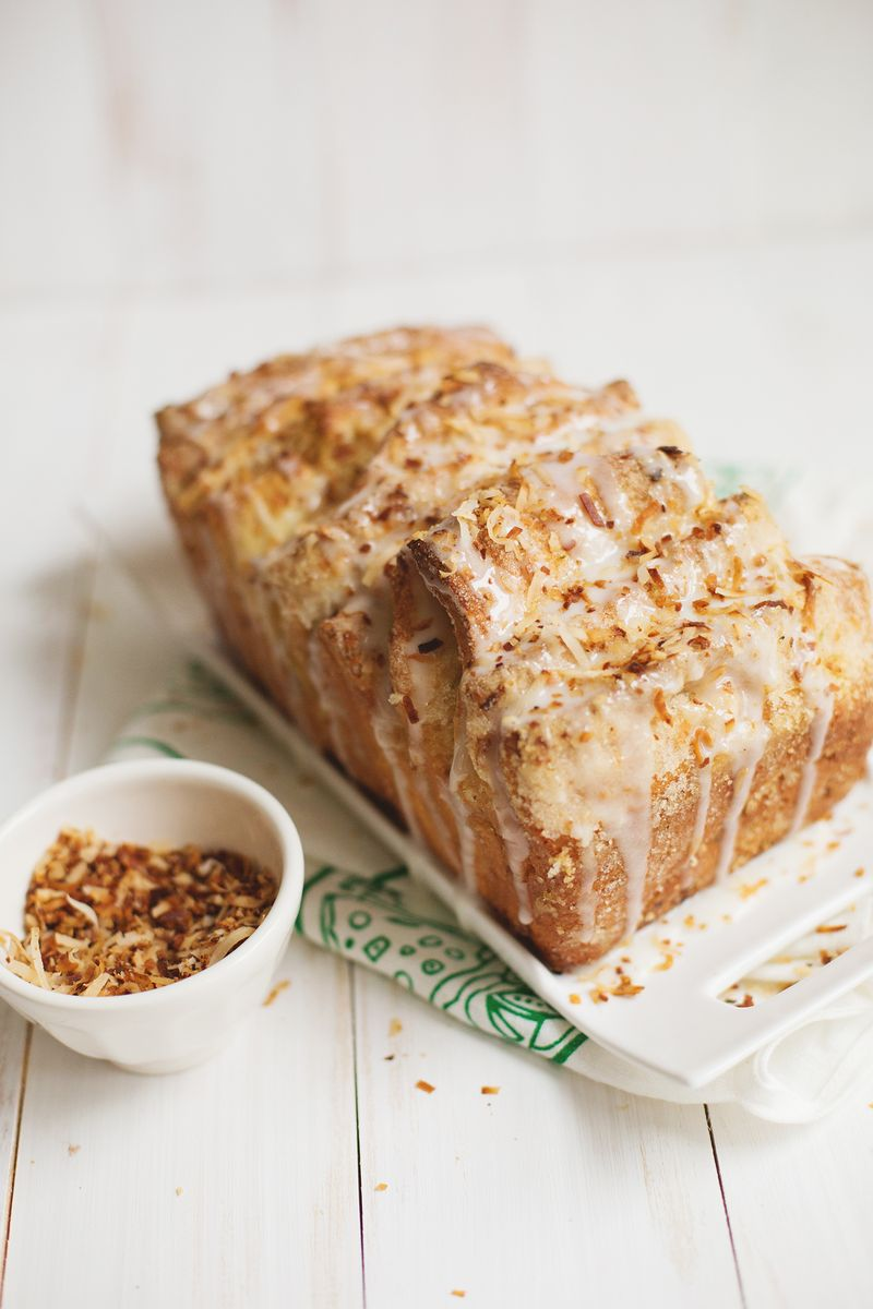 Coconut and lime pull apart bread (click through for recipe)
