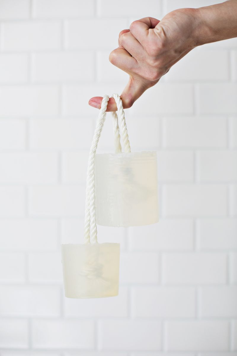 Want to try this-- Make your own soap on a rope