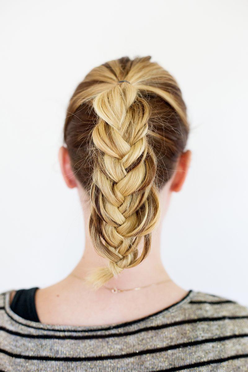 Step 6- Make the braid fuller