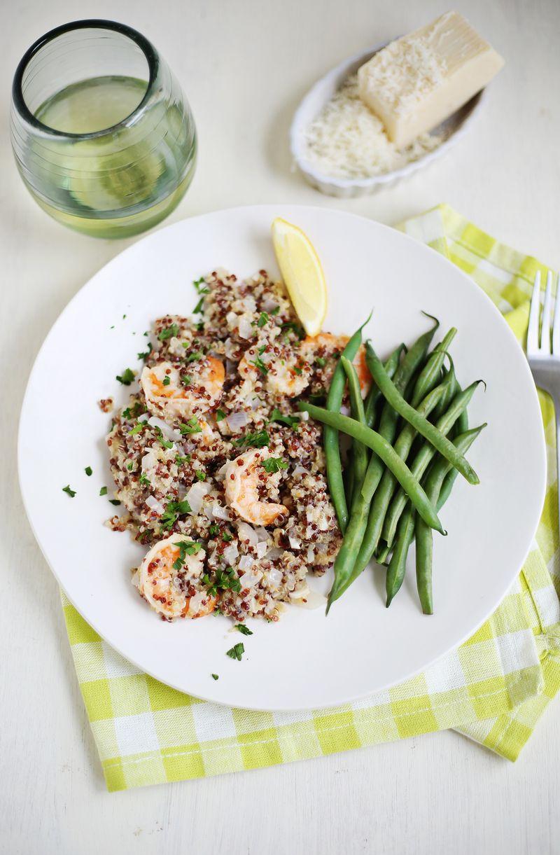 Quinoa Shrimp Scampi (click through for recipe)