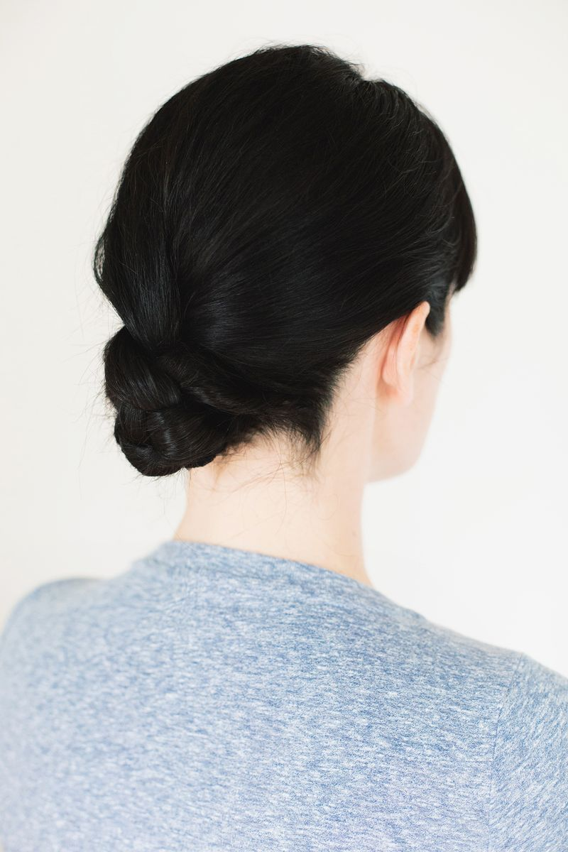 Five minute braided bun