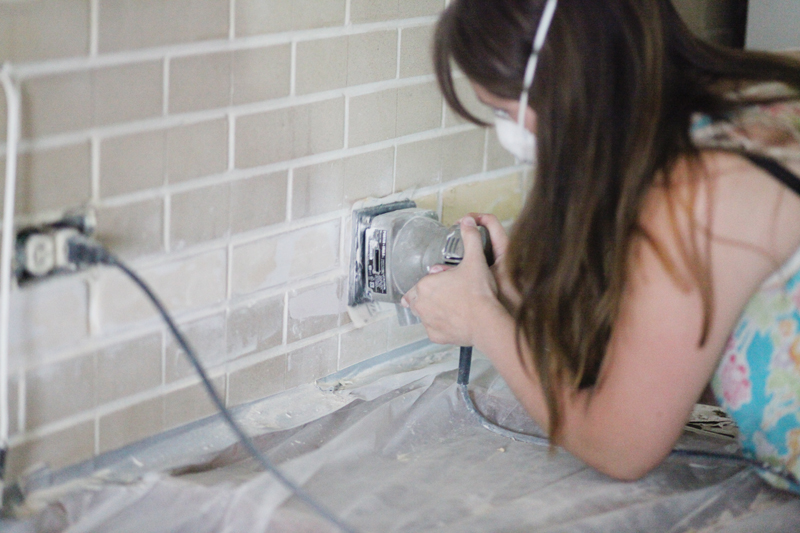 Cleaning, Painting, & Drilling into the Brick Wall - A