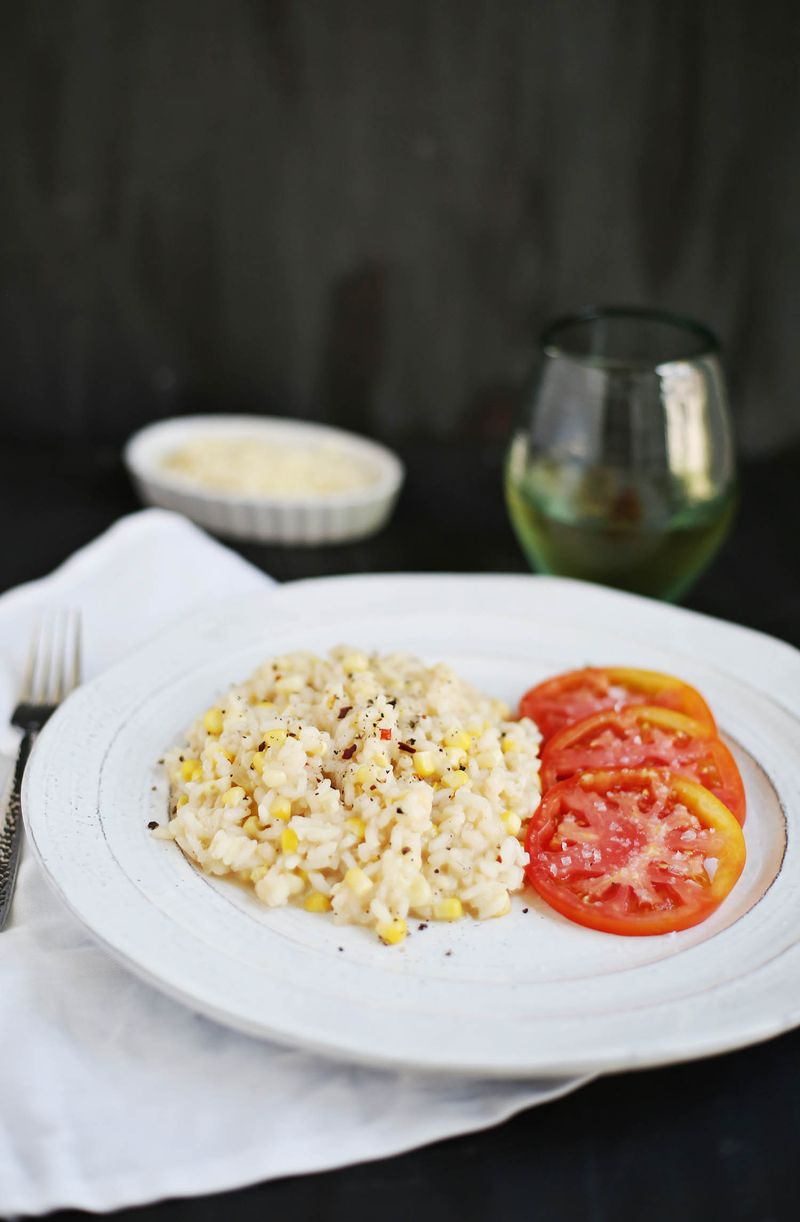 Spicy Sweet Corn Risotto (click through for recipe)