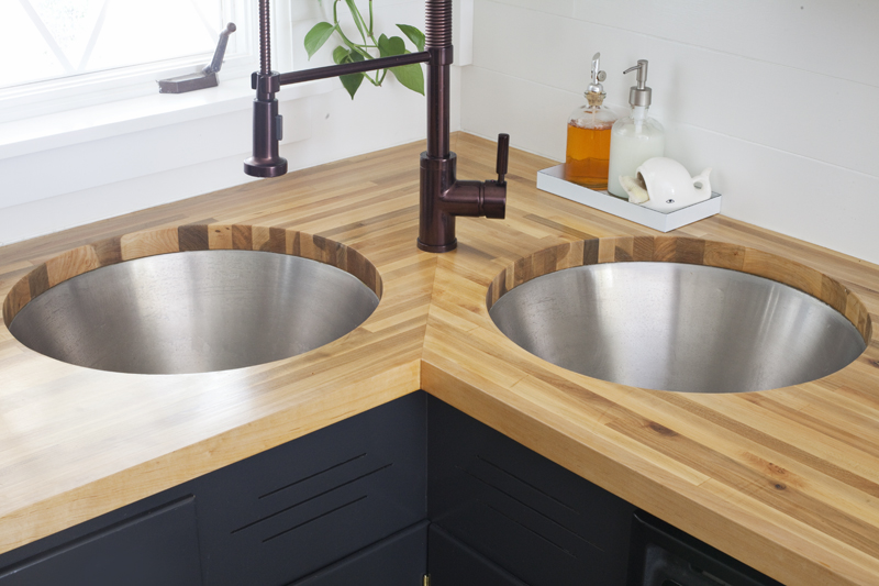 Installing Butcher Block Counters with an Undermount Sink - A ... on butcher block countertop marble, butcher block countertop bathroom, butcher block countertop laundry,