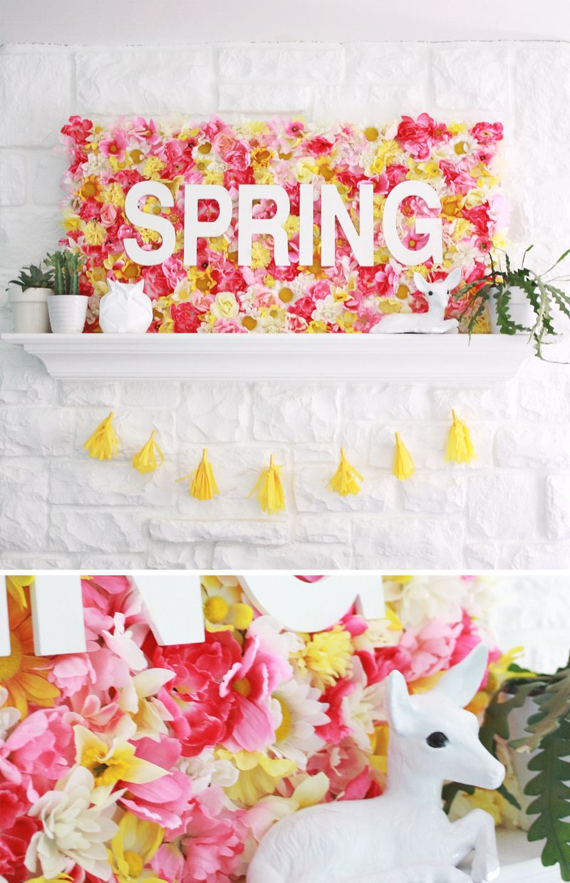 Spring Wallflowers Sign (click through for tutorial) abeautifulmess.com