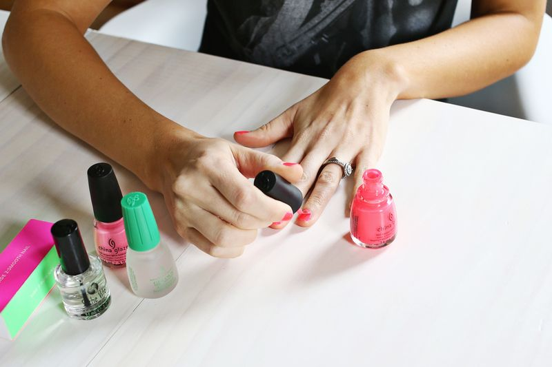 Do Your Own Gel Manicure at Home! abeautifulmess.com