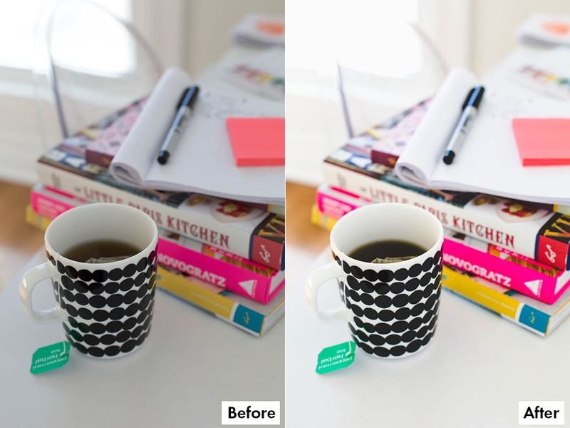 Before + After with A Beautiful Mess Lightroom Presets