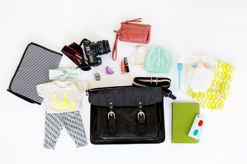 Packed for diaper bag