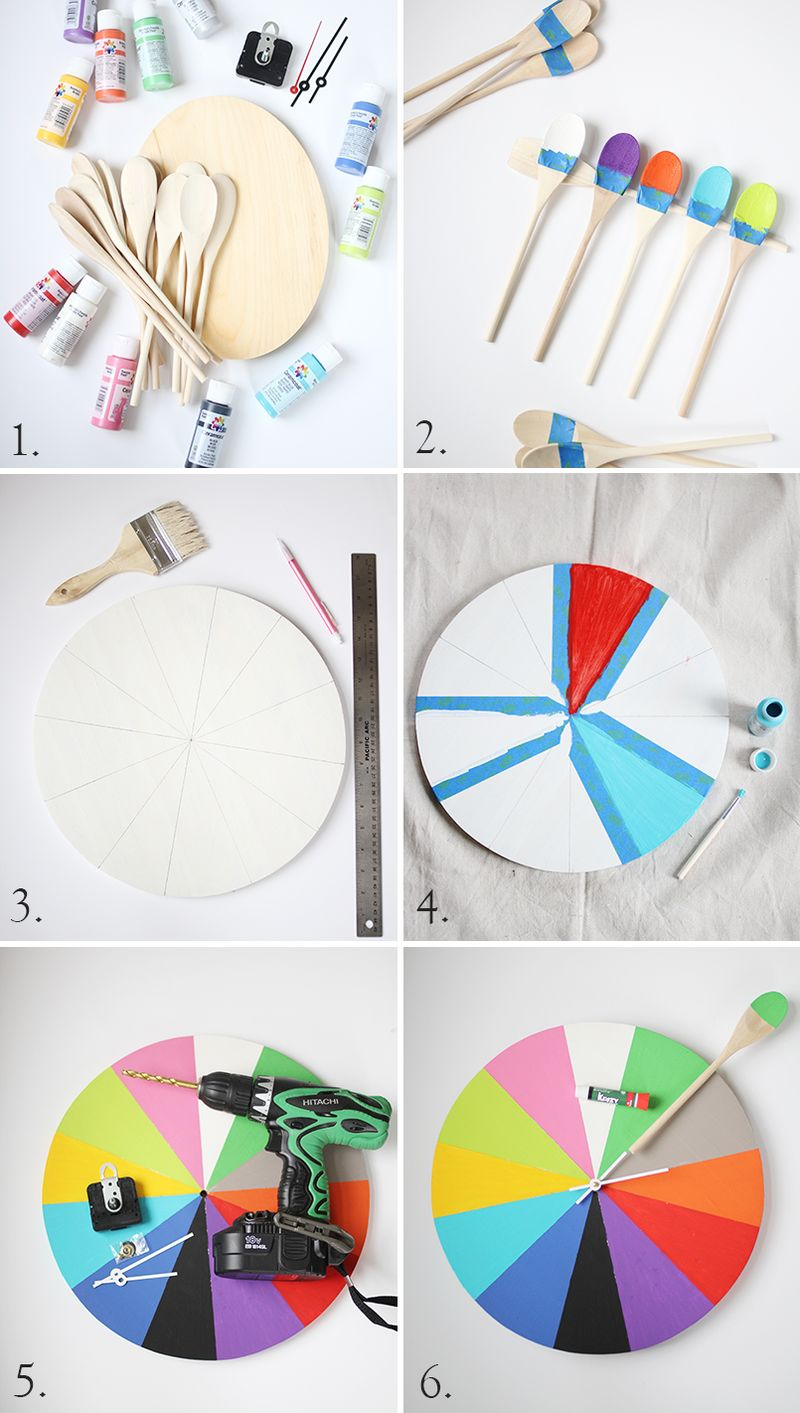 Diy tutorial for how to make a kitchen clock