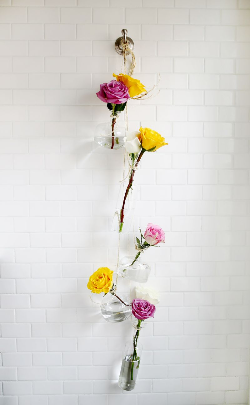 Hanging vase display