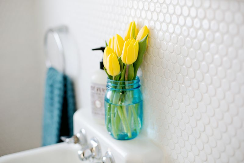 White penny tile