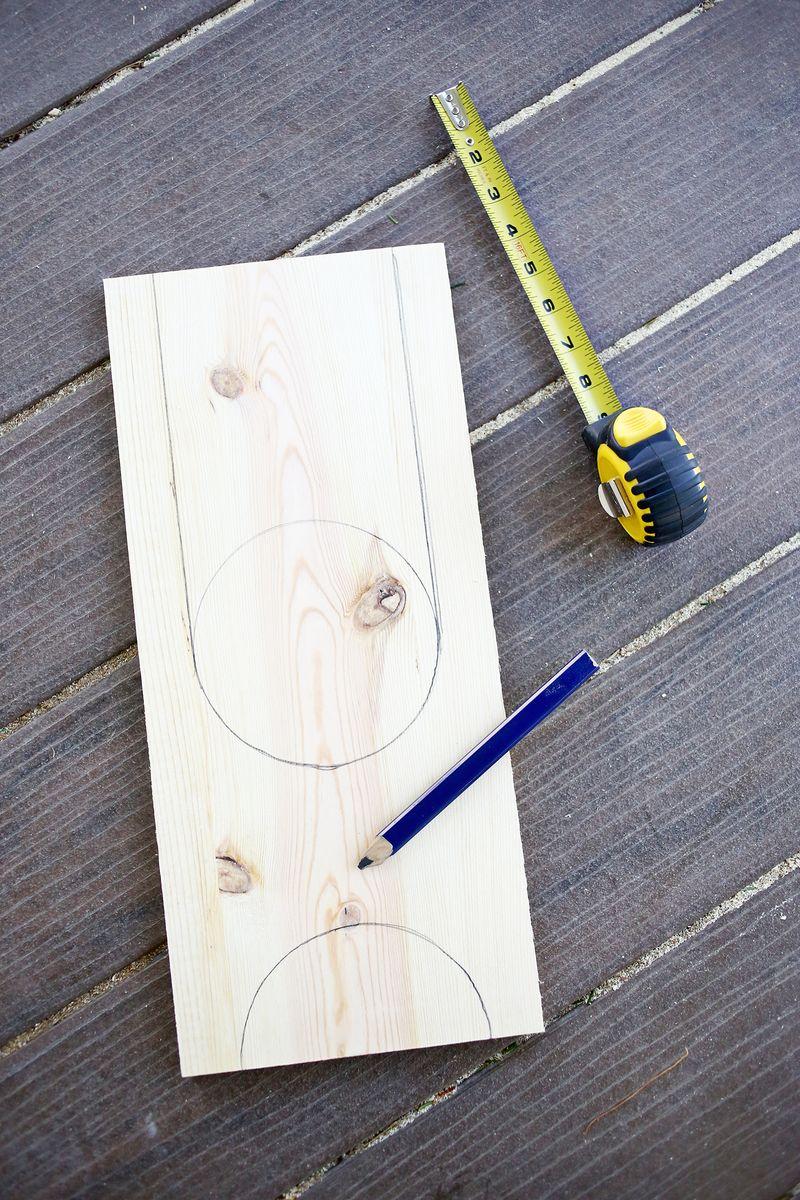 Wood + Leather Magazine Holder DIY abeautifulmess.com