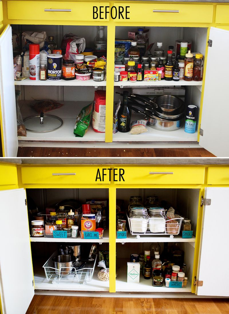 Get Organized: Kitchen Cabinets - A Beautiful Mess