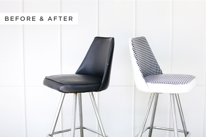Vinyl Chair Makeover - A Beautiful Mess