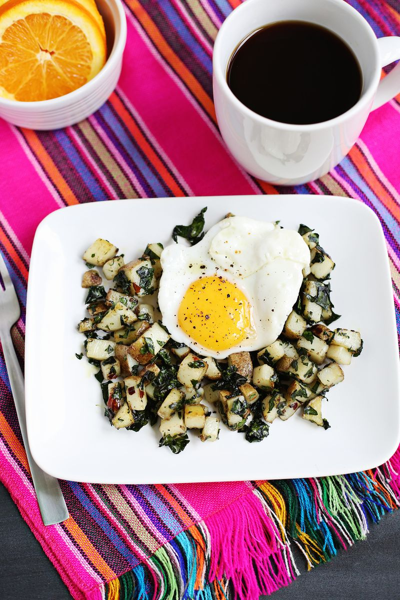 Kale and potato hash (click through for recipe)