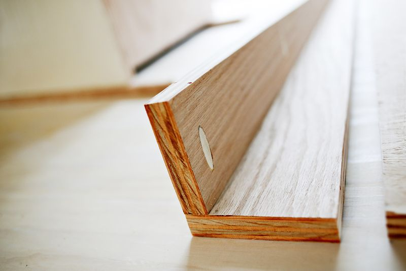 Abeautifulmess_mid century inspired table doweling (click through for more)