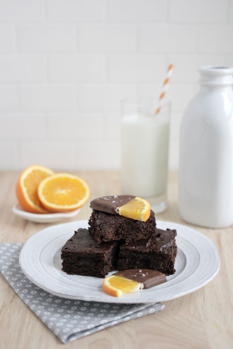 Healthy chocolate orange brownies