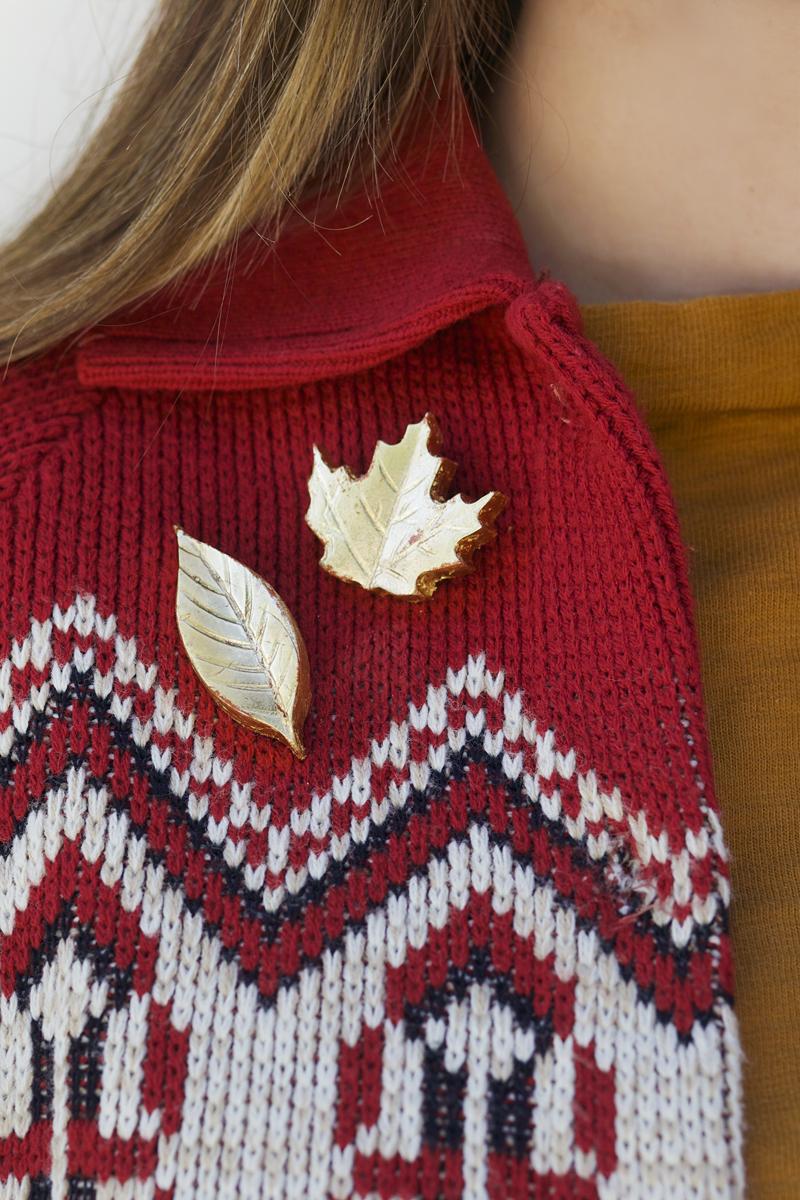 DIY Gold Leaf Brooches