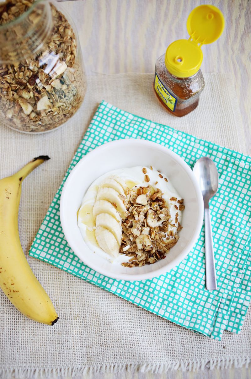 Banana bread granola (click through for recipe)