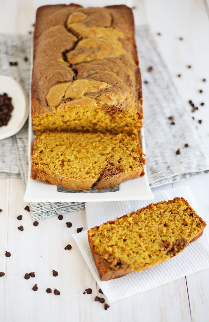Chocolate pumpkin bread (click through for recipe)