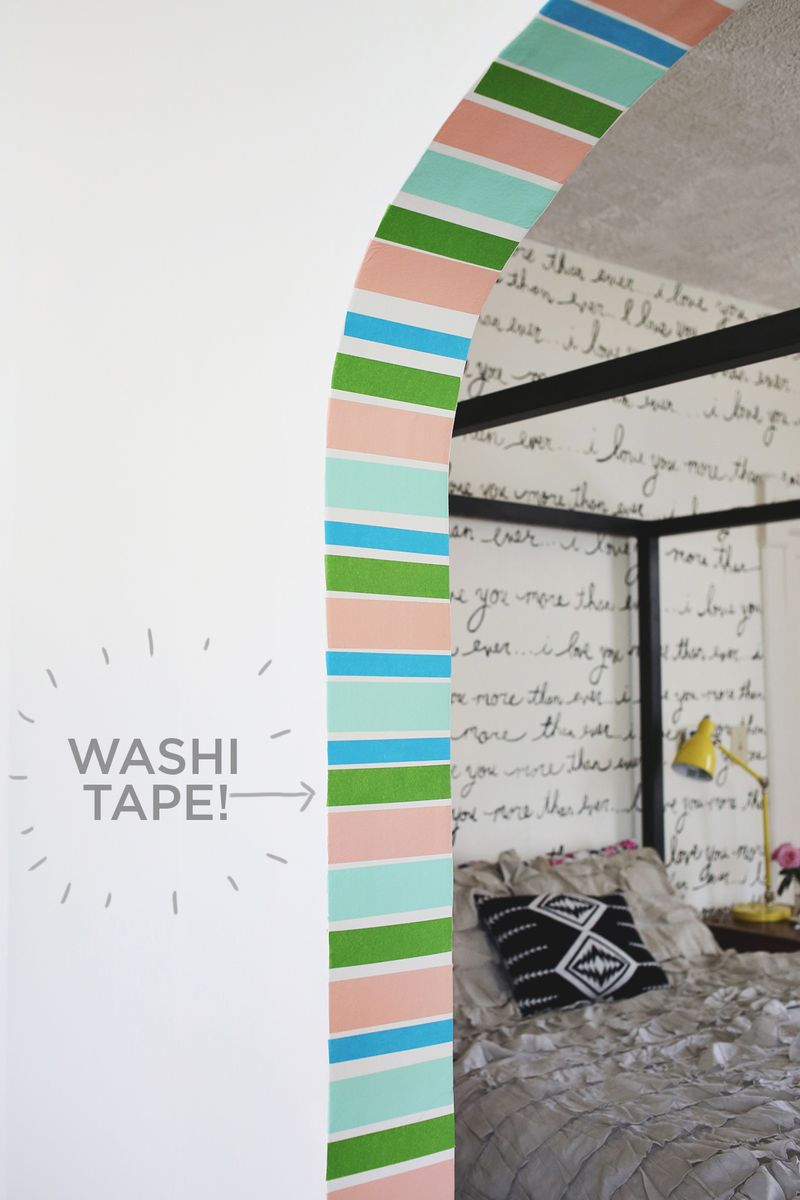 Interior washi tape!
