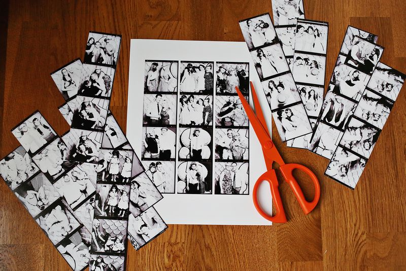 Cut out photo strips