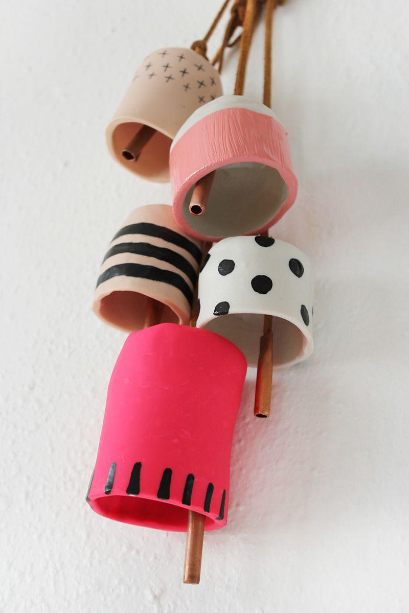 Easy Clay Bell DIY by Rachel Denbow for ABM